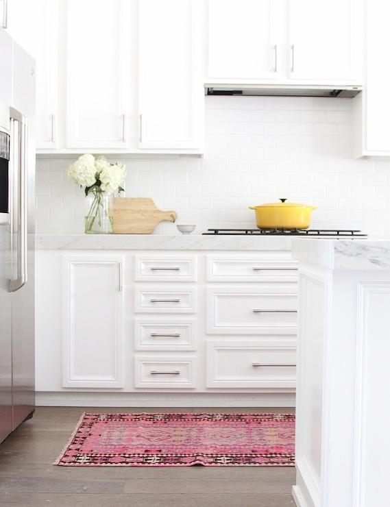 Kitchen with Pink Kilim Rug - Transitional - Kitch