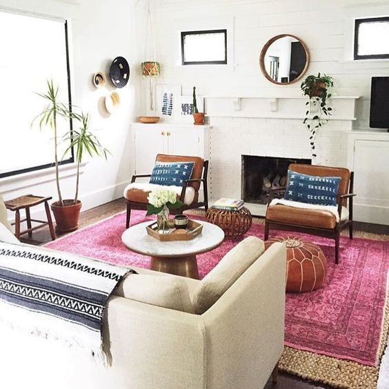 20 Sophisticated Ways To Style A Pink Rug • The Perennial Style .