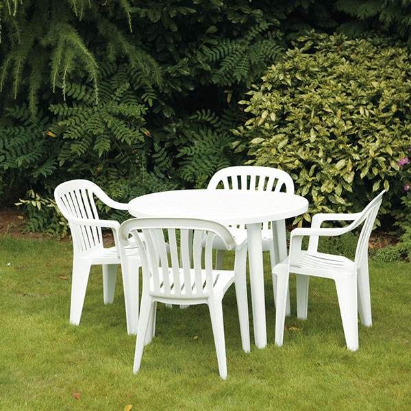 47 White Plastic Patio Chairs, Shop Polywood Jefferson Sand/white .