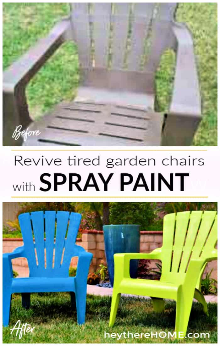 See how I painted plastic outdoor chai