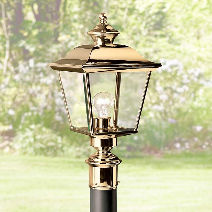 """Kichler Solid Brass 22"""" High Outdoor Post Light - #53746 
