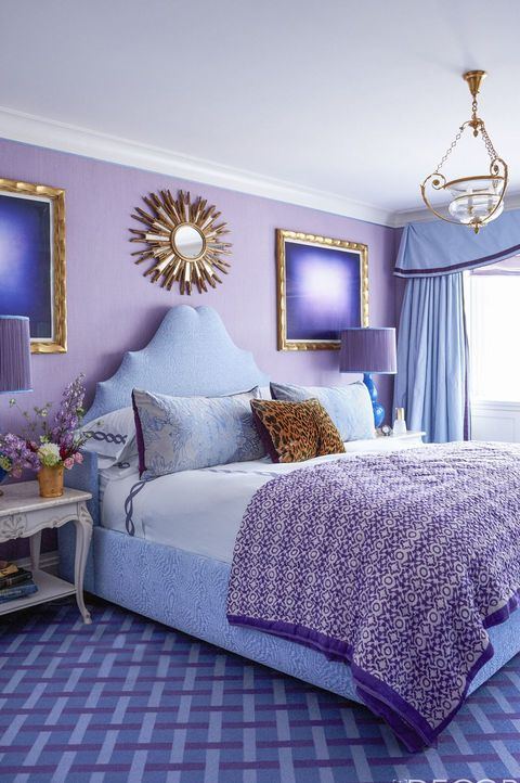 10 Stylish Purple Bedrooms - Ideas for Bedroom Decor in Purp