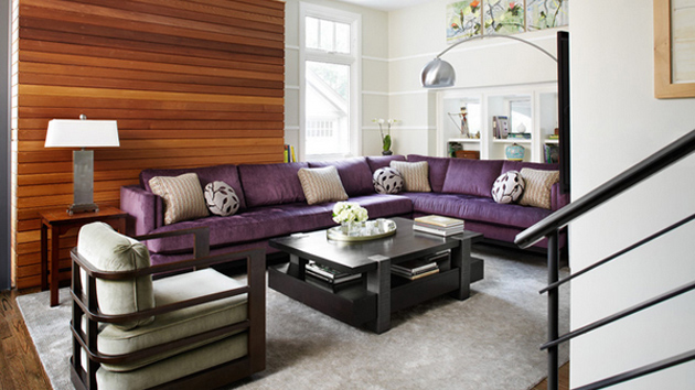 20 Engrossing Purple Sofa in the Living Room   Home Design Lov