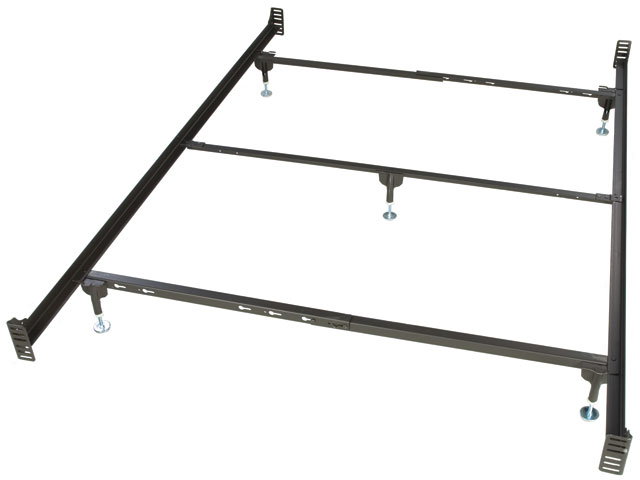Bolt On Queen Size Metal Bed Frame For Headboard And Footboa