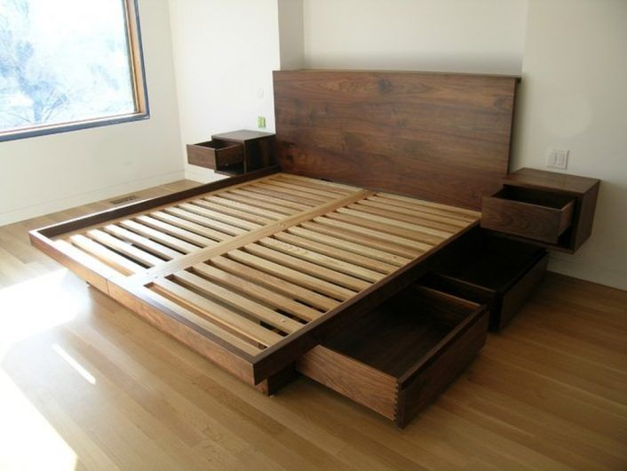 How to DIY Queen Bed Frame Plans - A Few Simple Tips | Bed frame .
