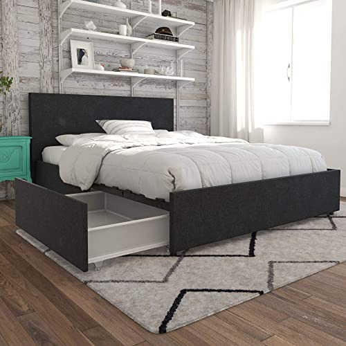 Queen Size Bed Frame With Drawers Underneath
