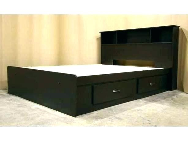 Queen Bed Frame With Drawers Full Size Bed With Drawers Underneath .