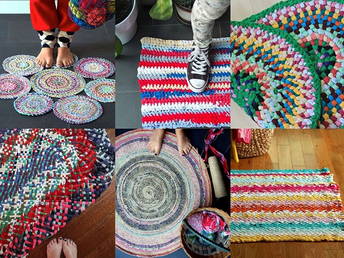 7 Ways to Make a Rag Rug from old Clothes   My Poppet Mak