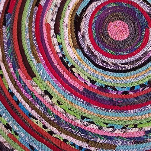 Amazon.com: 3' Colorful Round Rag Rug, Made to Order YOU Choose .