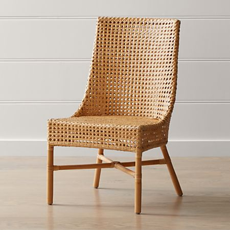 Maluku Natural Rattan Dining Side Chair + Reviews   Crate and Barr