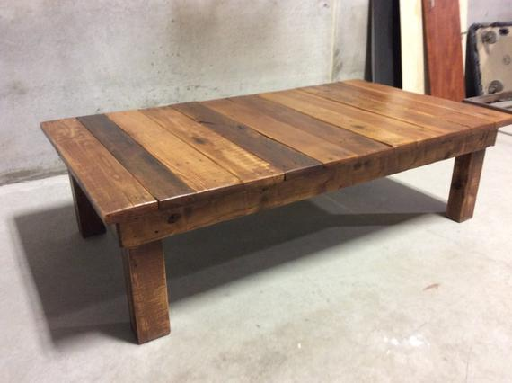 Large Reclaimed Wood Coffee Table | Et