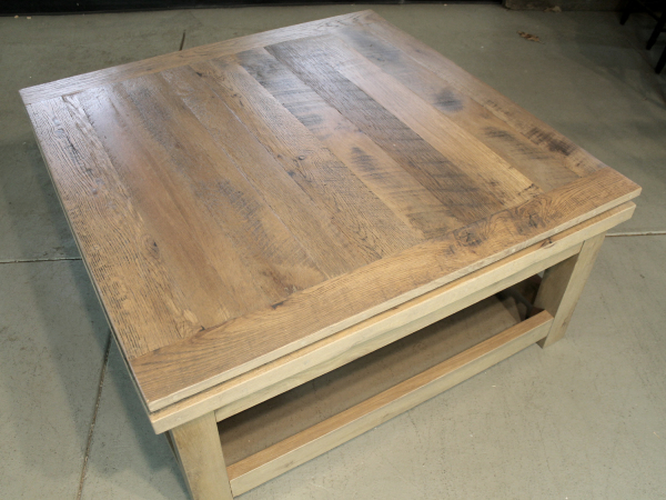 Large Square Reclaimed Wood Coffee Table - Lake and Mountain Ho