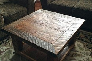 """Amazon.com: """"The Old Seattle Square"""" Reclaimed Wood Coffee Table ."""