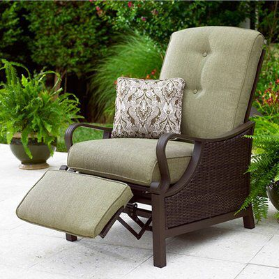 Sherwood Luxury Recliner Patio Chair with Cushions | Outdoor .