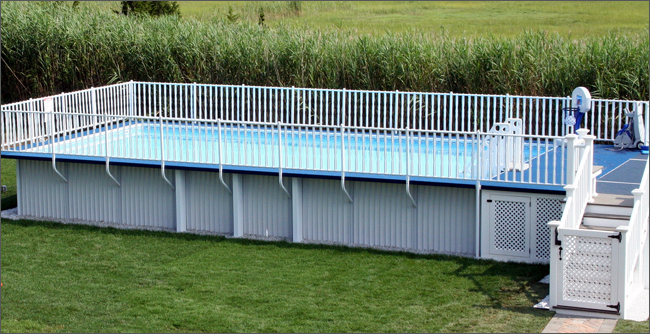 rectangle above ground pool - Google Search | Rectangle above .