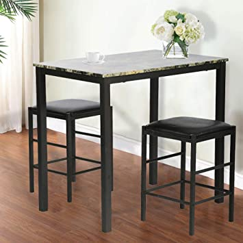 Amazon.com - FDW Dining Table Set Kitchen Table and Chairs Dining .
