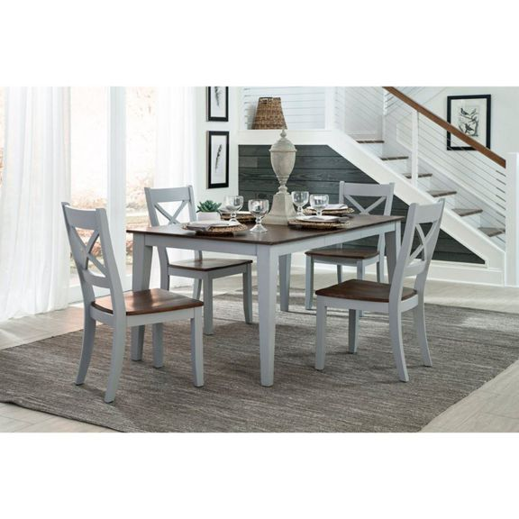 Intercon Small Space Dining 66 in. Rectangular Dining Table with .