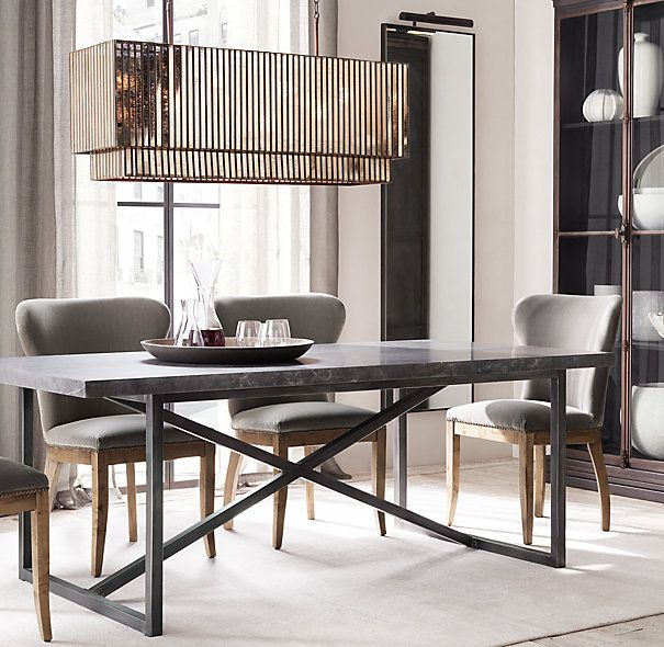 Torano Marble Rectangular Dining Table | Narrow dining tables .
