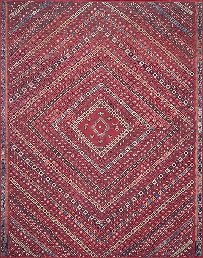 Lucca LF-05 Red Multi Area Rug - Magnolia Home by Joanna Gaines .