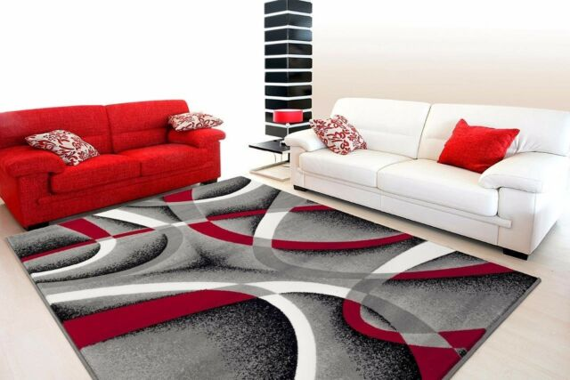 e by design Flatweave White/Red Area Rug for sale online | eB