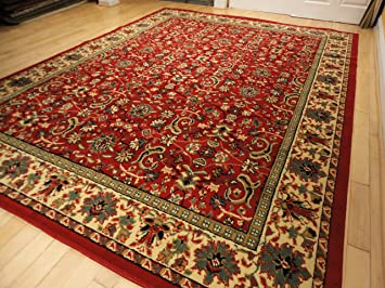 Amazon.com: Red Traditional Rugs Large Red 5x7 Persian Rug 5x8 Red .