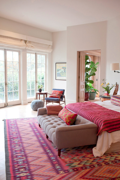 Home Inspiration: Pink and Red Rugs   A Cup of