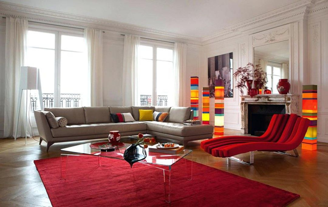 Best And Eye-Popping Red Living Room Color Schemes - DEXORA