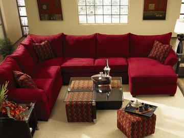 Fletcher Red Sectional Sofa by Klaussner | Red sectional living .