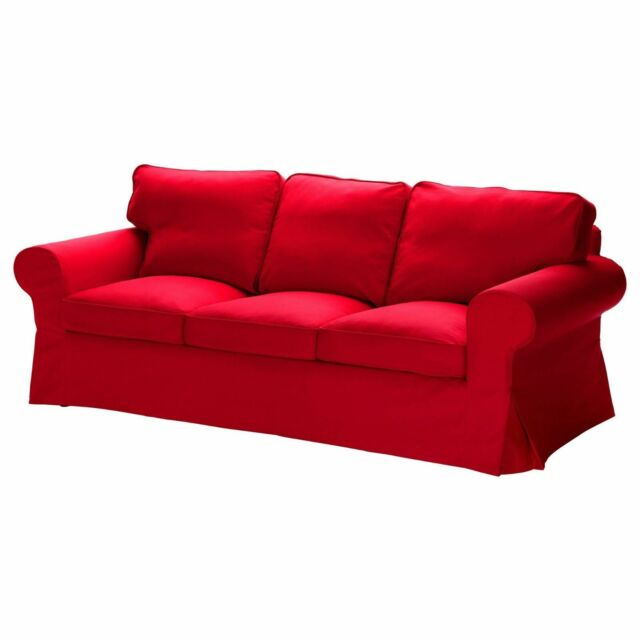IKEA EKTORP 3-seat Sofa Slipcover Idemo Red ,NEW for sale online .