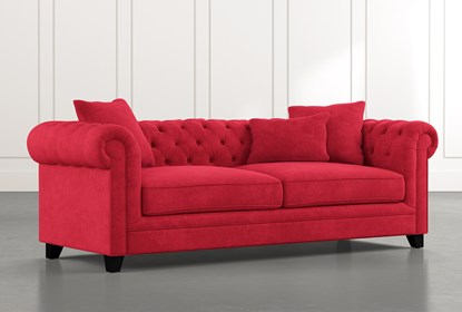 Patterson III Red Sofa   Living Spac