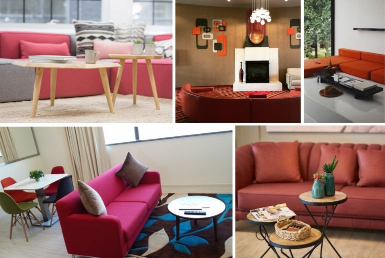 15 Living Room Ideas with a Red Sofa That Make the Best Acce