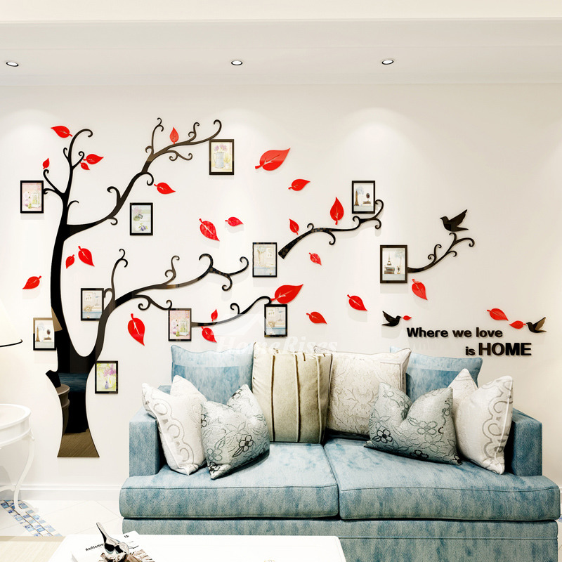 Removable Wall Decals For Bedroom Acrylic Tree Home Dec