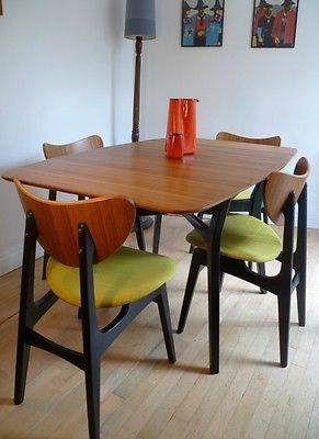 VINTAGE RETRO 60'S TEAK G PLAN GOMME DINING TABLE AND .