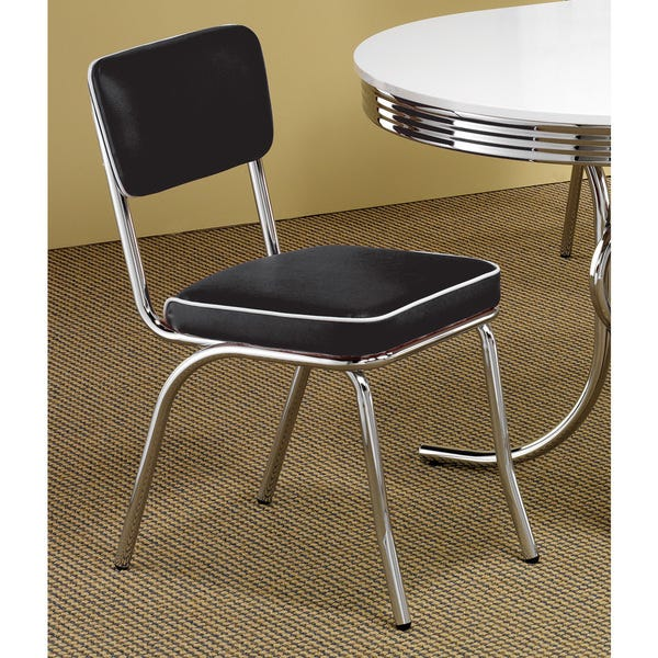 Shop Coaster Company Black Chrome Plated Retro Dining Chair - On .