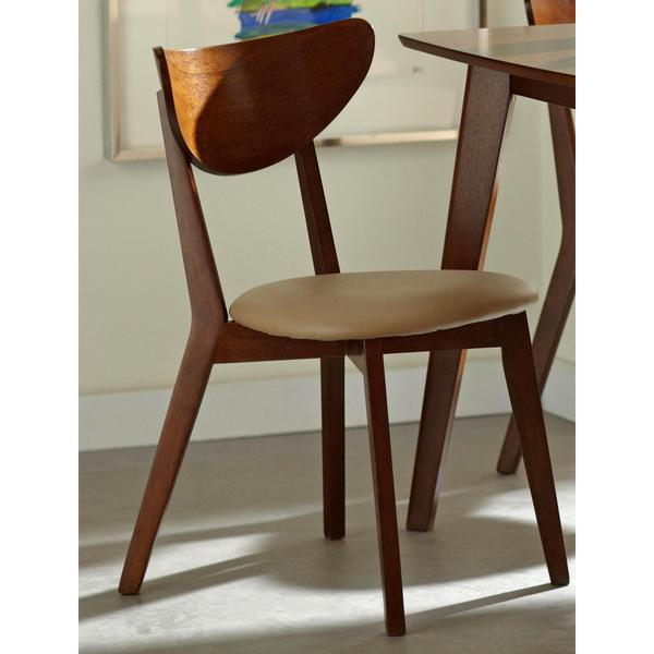 Shop Peony Retro Mid-century Style Chestnut Finished Dining Chair .