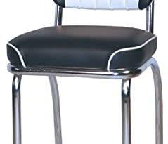Amazon.com: Retro 50's Black and White Channel Back Diner Chair .