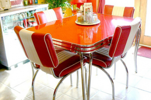 Colorful Inspiration for the Dining Room | Retro dining tab