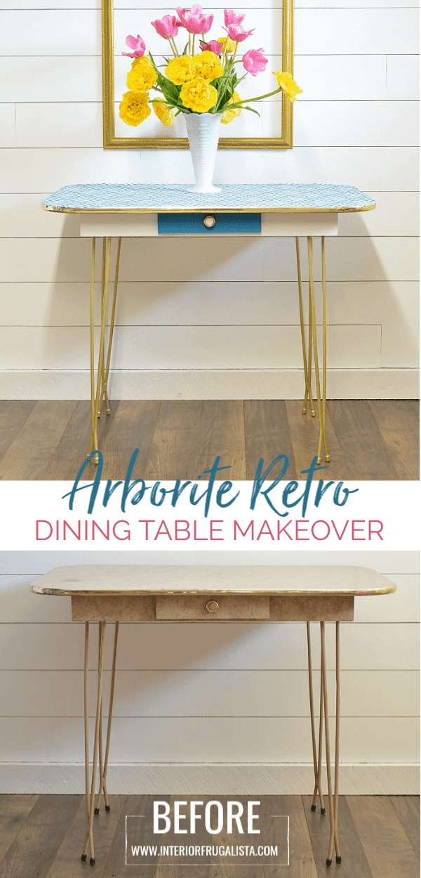How To Paint Arborite Retro Dining Tables | Retro dining table .
