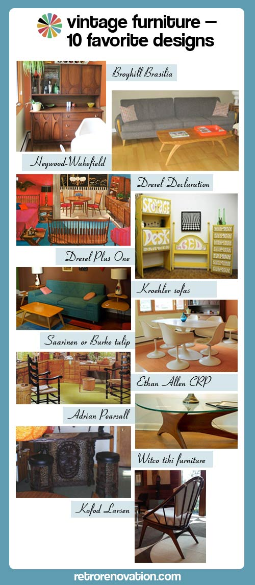 Vintage furniture - 10 of our favorite midcentury designs and .