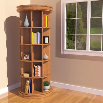 Potterybarn inspired Revolving Bookcase Woodworking Plan by .