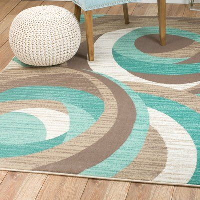 Orren Ellis Gaeta Turqoise Area Rug | Wayfair | Area rugs, Teal .