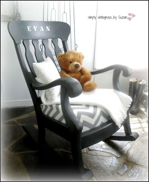 A ROCKING CHAIR MAKEOVER!   Vintage rocking chair, Rocking chair .