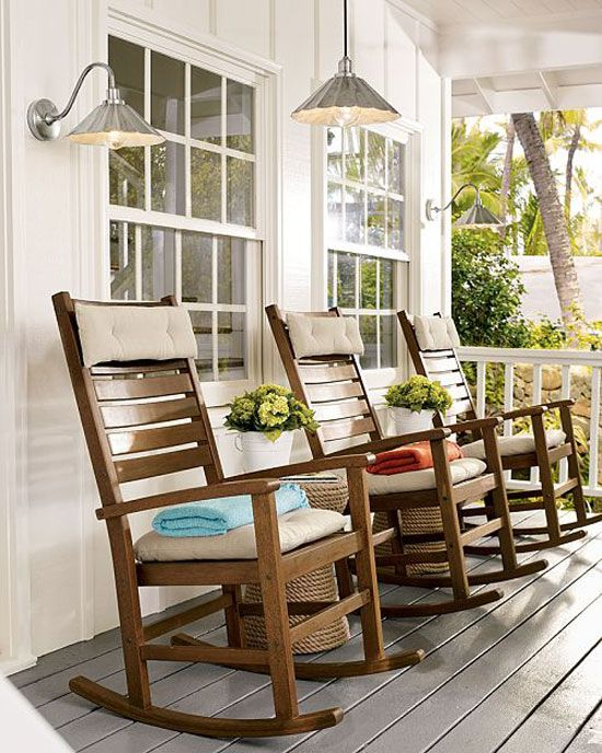 Porch Decorating Ideas: Creating a Fabulous Space   Rocking chair .