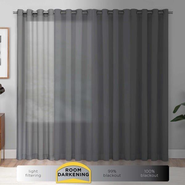 Shop Eclipse Paige Thermaweave Room-Darkening Window Curtain Panel .