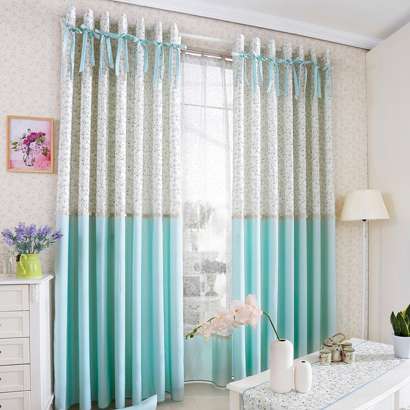 Princess Style Room Darkening Curtain for Kids Room with Bowknot .