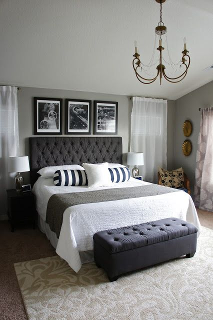 How To Decorate A Bedroom | Chic master bedroom, Home bedroom .