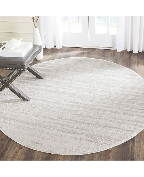 Safavieh Adirondack Ivory and Silver 4' x 4' Round Area Rug .