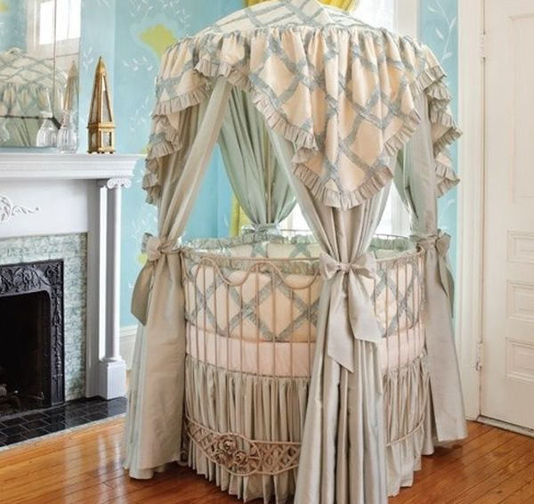 26 Round Baby Crib Designs For A Colorful And Cozy Nurse