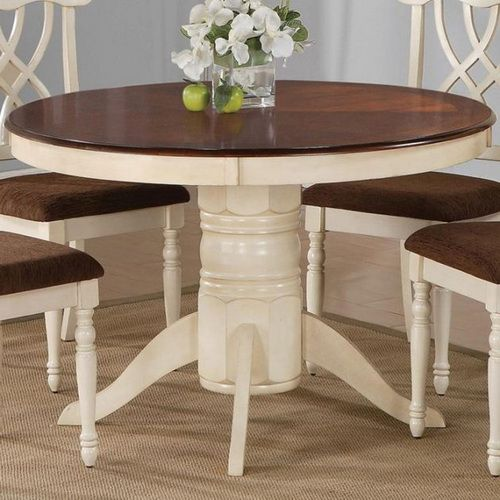 Modern Round Dining Table With Leaf | Round pedestal dining .