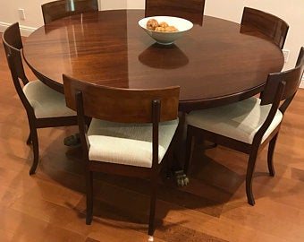 Round dining table with leaves | Et